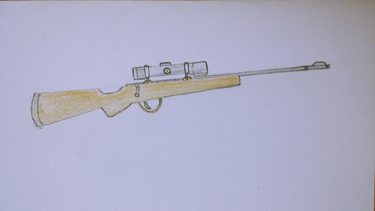 Drawn rifle Draw How Rifle Sniper to