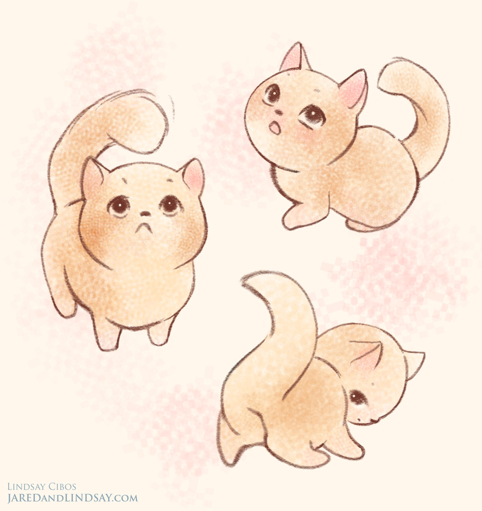 Drawn kitten chibi And Pinterest poses drawing Of