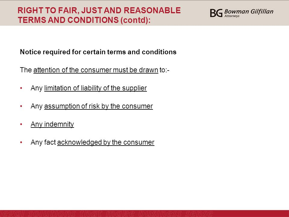 Drawn right consumer FRANCHISE LAW SOUTH 29 ppt