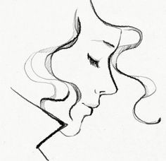 Drawn profile side view Easy  drawing ideas 25+