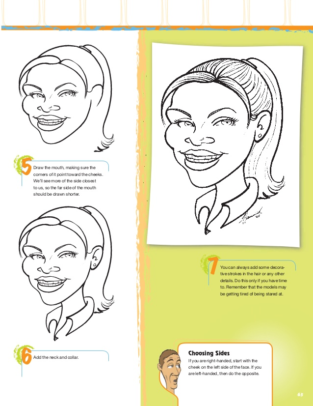 Drawn right side face  Face caricatures comic draw