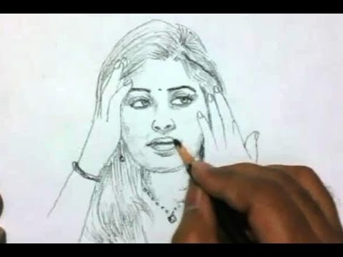 Drawn right woman in india Draw How to a Girl