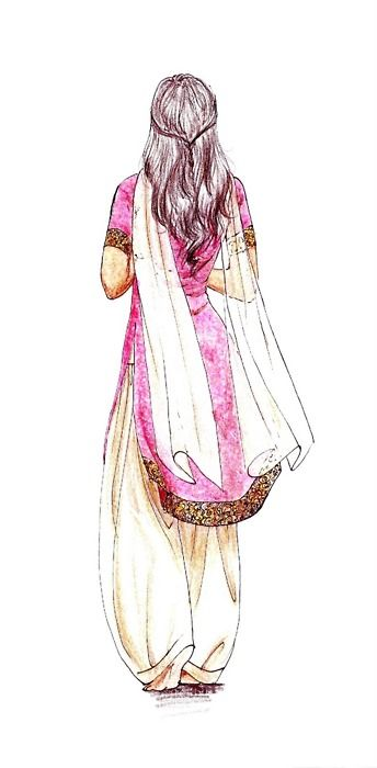 Drawn right woman in india Drawing Indian ideas I Pinterest