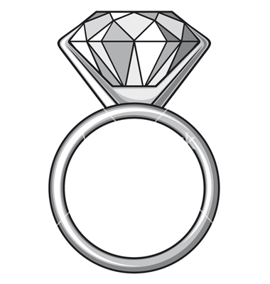 Drawn ring Engagement Clipart How Com Diamond