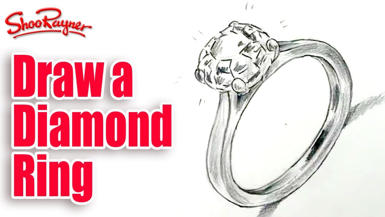 Drawn ring YouTube to diamond a Unsubscribe