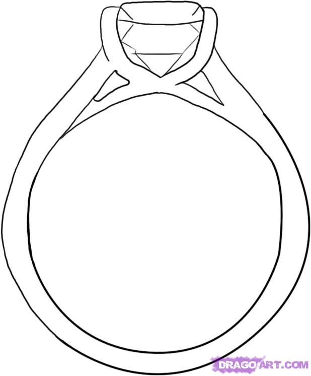 Drawn ring Valentines Draw Ring Diamond How