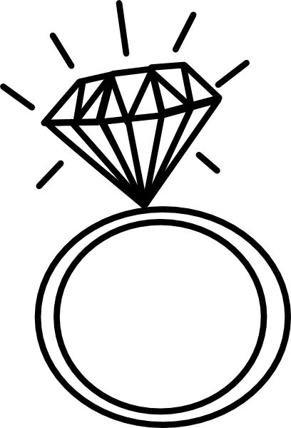 Drawn ring Wedding Drawings ClipArt Best Pinterest