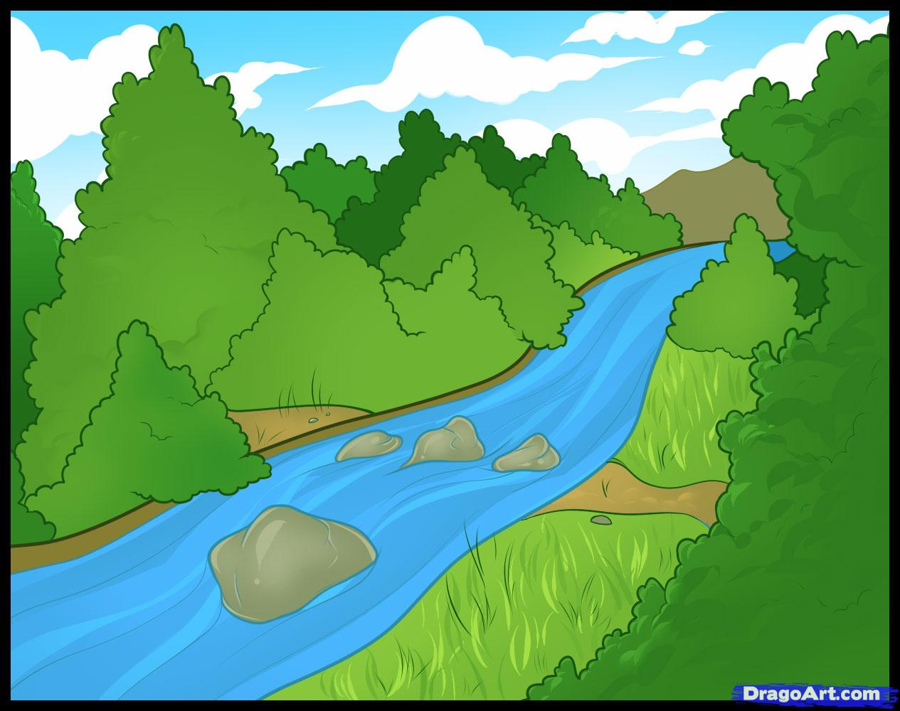 Drawn river To Landmarks a to &