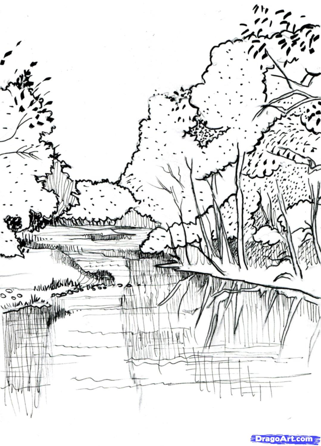 Drawn river Draw by catlucker How Step