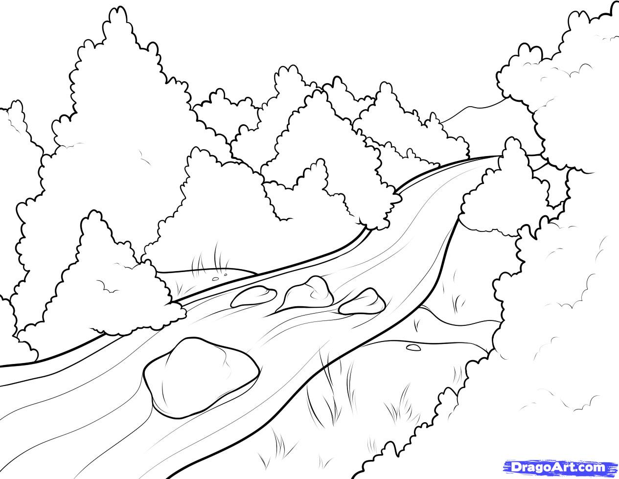 Drawn river To Step  a 6