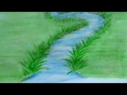 Drawn scenery nirmal River Lesson 3  A