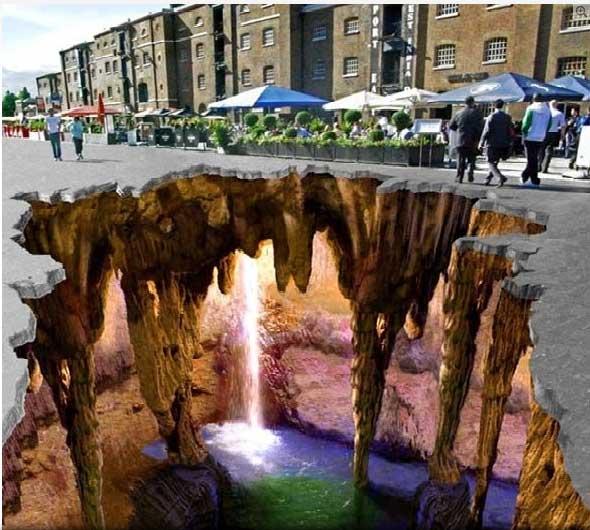 Drawn river 3d art Digital Paintings 3D PhotoPix Street
