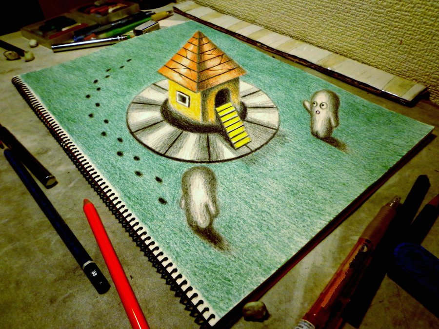 Drawn river 3d art How you your also to