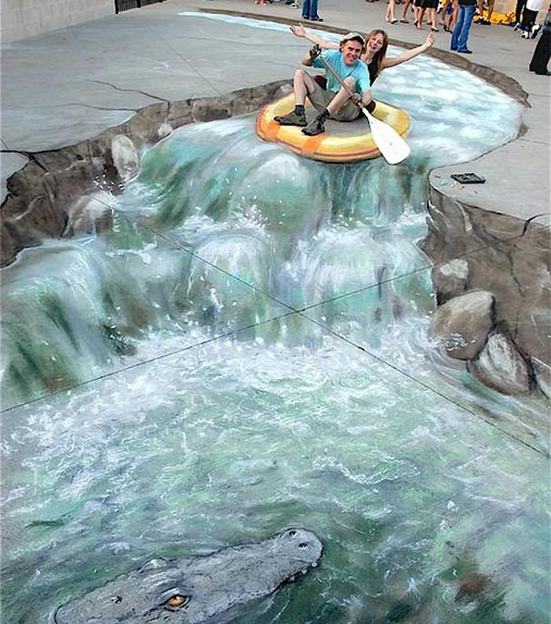 Drawn river 3d art Talented Most Artists The 3D