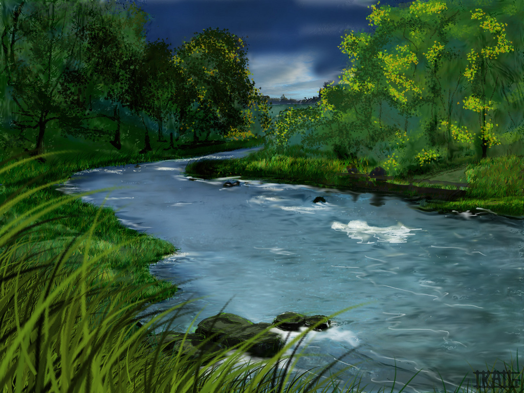 Drawn river Drawing a Flickr CPSutcliffe by