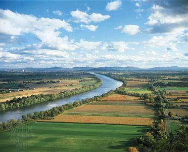 Drawn river agriculture River Britannica & along Farmland
