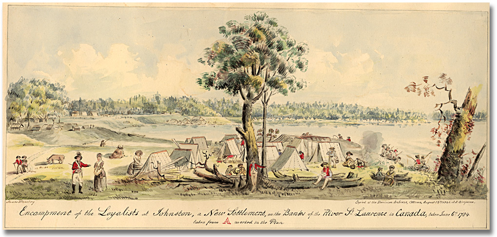 Drawn river agriculture Ontario Loyalists banks of Settling