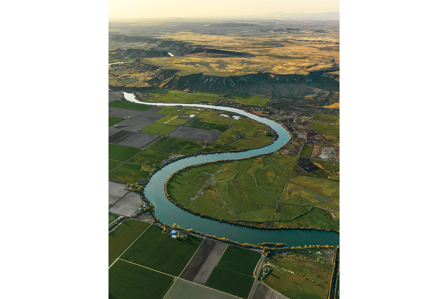 Drawn river agriculture Sewer through system (Idaho's