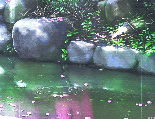 Drawn river animated  water river the click
