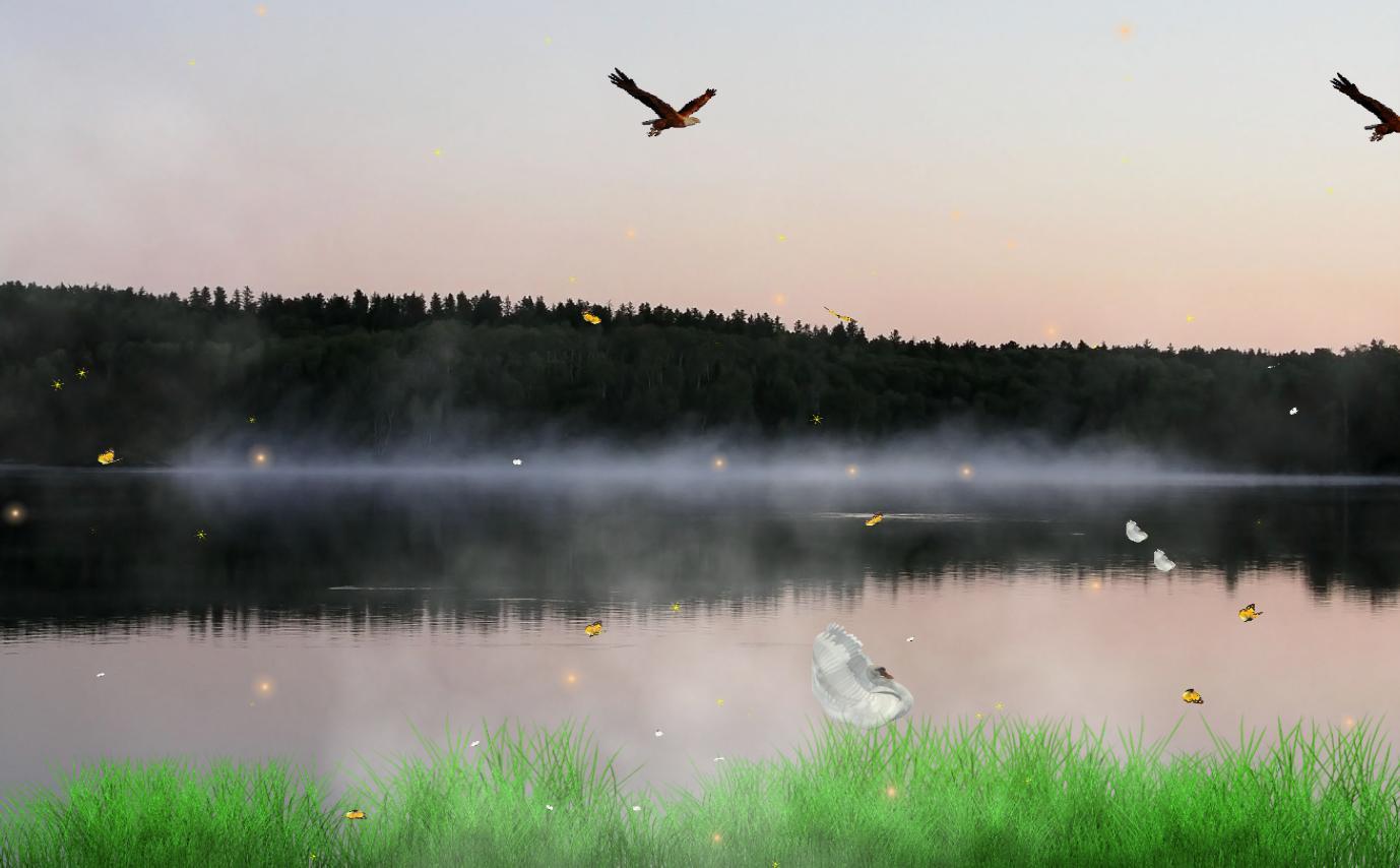 Drawn river animated Software Wallpaper Desktop & Download