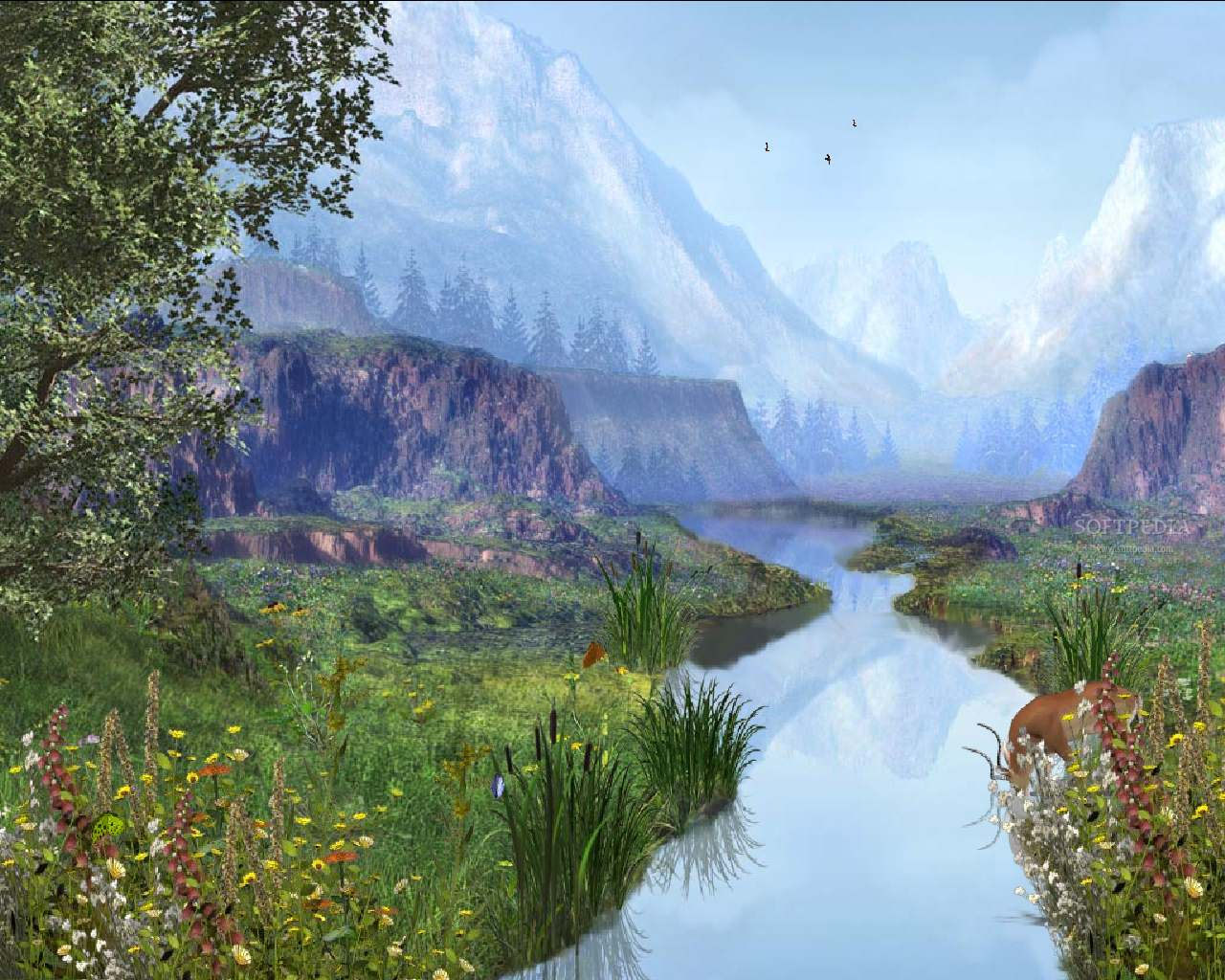 Drawn river animated (78 Mountains  about Rivers