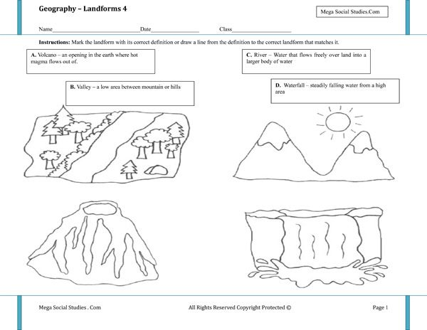 Drawn river color for kid Studies Valley about images Volcano