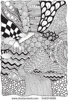 Drawn river coloring book Indian Hand for Pattern girl