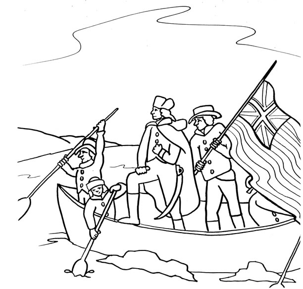 Drawn river coloring page Pictures Washington George Coloring *_*