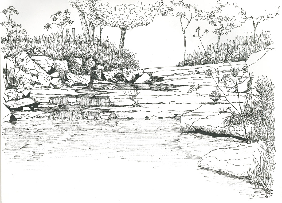 Drawn river colouring page Pages For Free Colouring Sketches