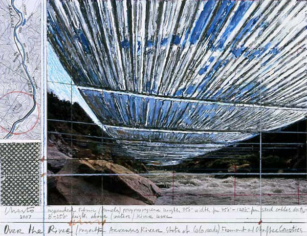 Drawn river crayon Signor Pinterest Search on Christo