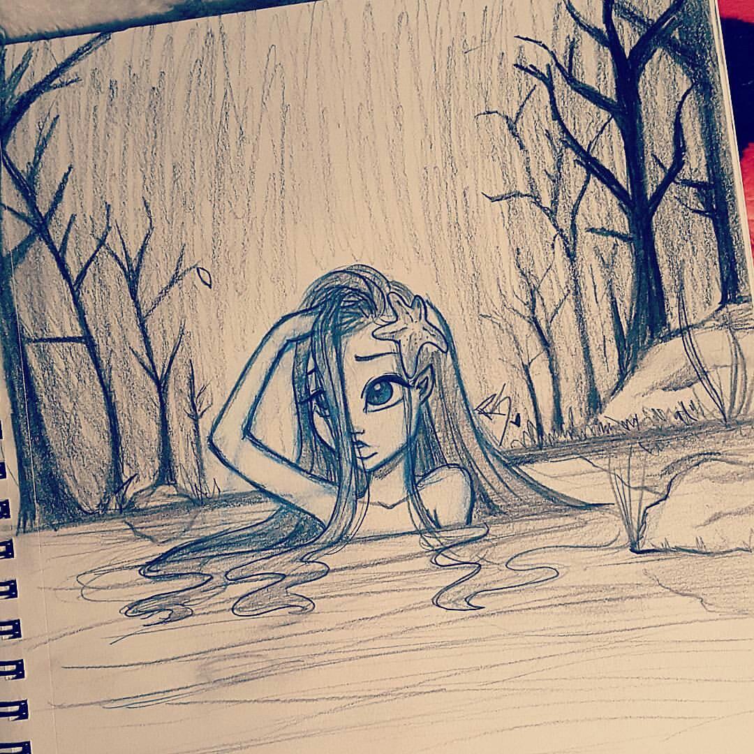 Drawn river cute A drawn Christina cute girl