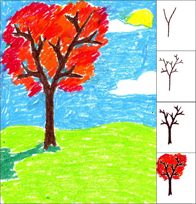 Drawn scenic child A Draw for Fall Kids