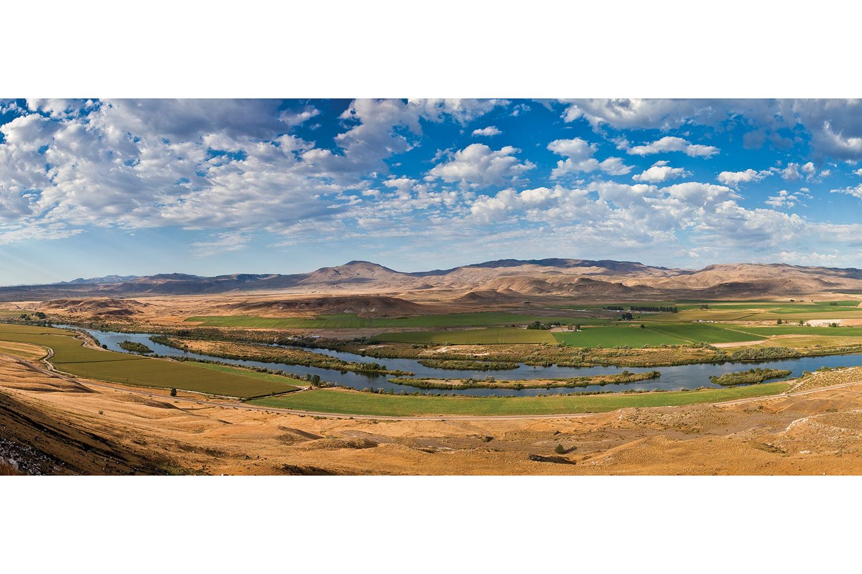 Drawn river farm landscape Is just of rim sewer