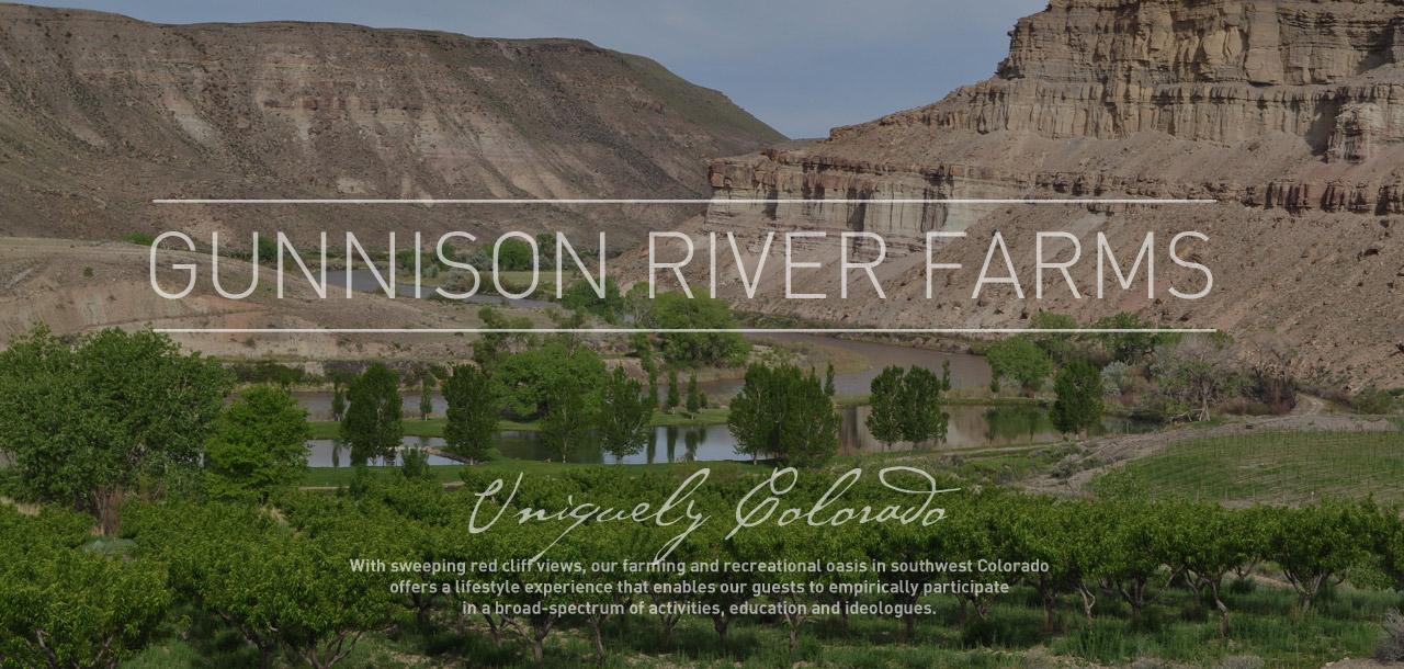 Drawn river farm landscape Property & Gunnison Amenities Farms