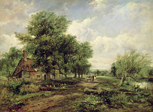 Drawn river farm landscape A Painting And Wooded Horse