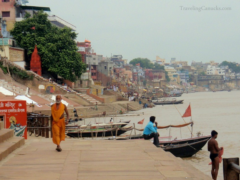 Drawn river ganga Varanasi the Holy The River
