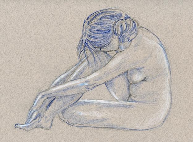 Drawn river life drawing Ten Practice — _ minute