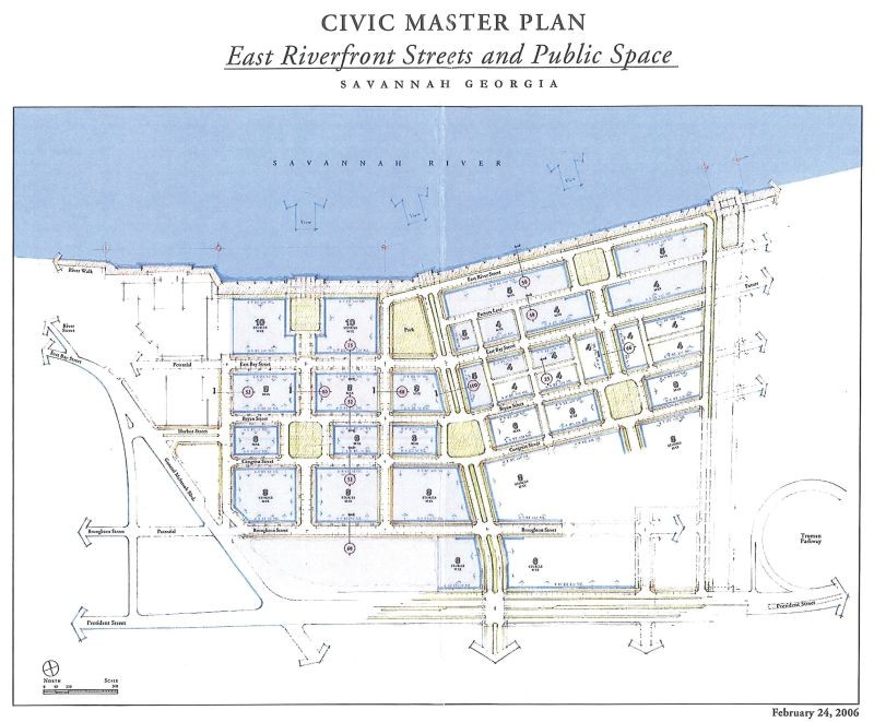 Drawn river master Plan The River from ago