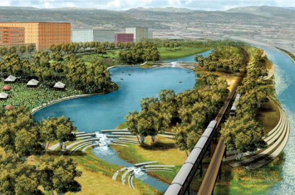 Drawn river master Revitalization City Los A Angeles