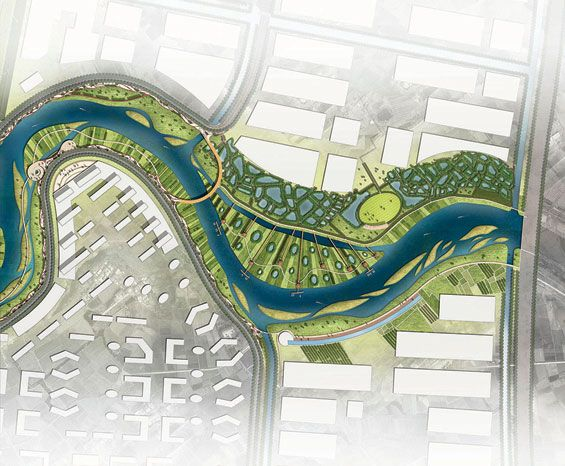 Drawn river master Concept Landscape Landscape on Tract