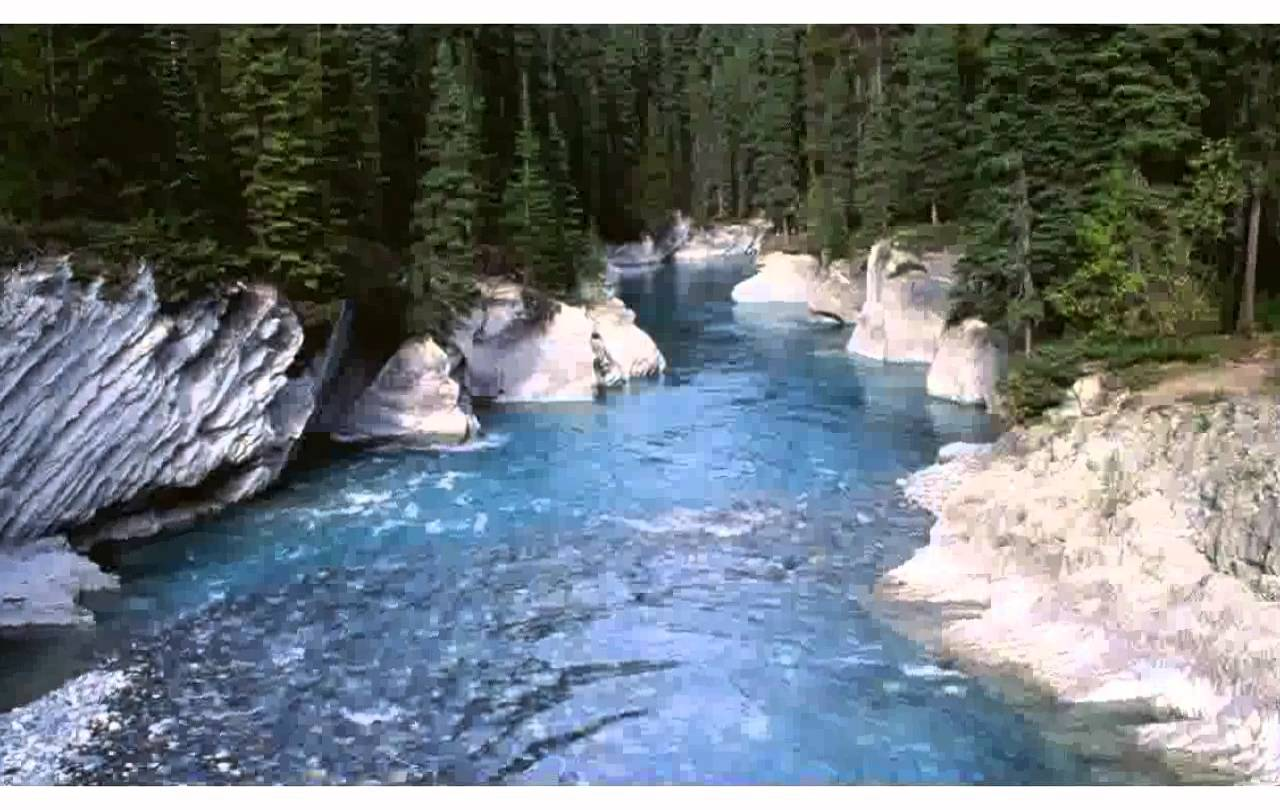 Drawn river mountain river YouTube Rocky mountain river Rocky