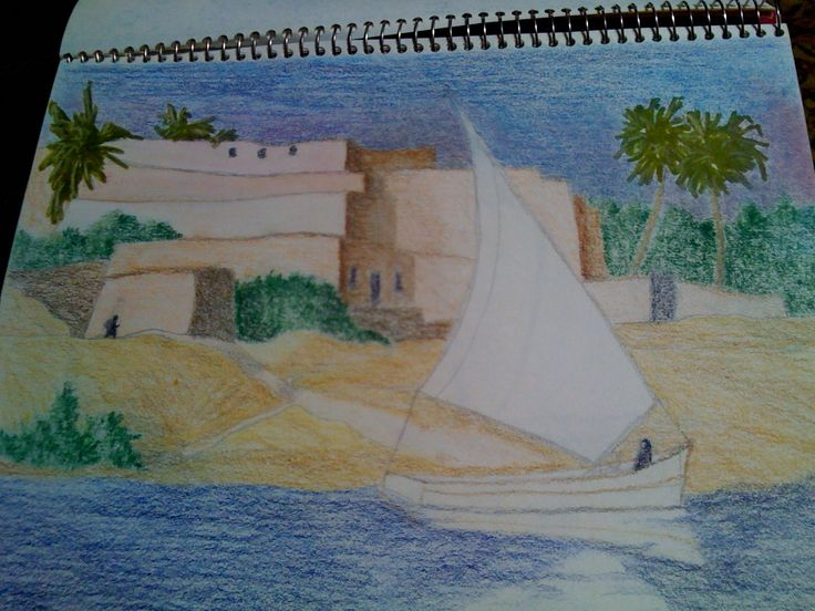 Drawn river nile river Egypt Nile in Drawing Drawings