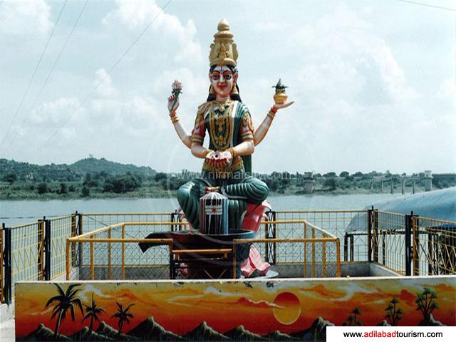 Drawn river nirmal nadi Saraswati Basar Temple Saraswathi Premises