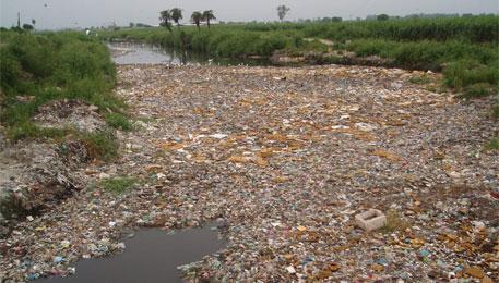 Drawn river nirmal nadi Receptacle by Kali is Kang