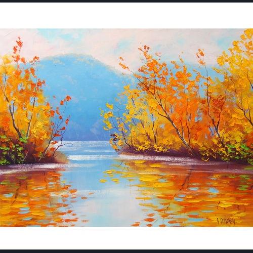 Drawn river oil painting 546 best Landscape Gercken Art