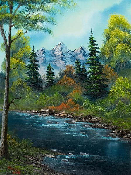 Drawn river oil painting Ideas on Painting 40 Best