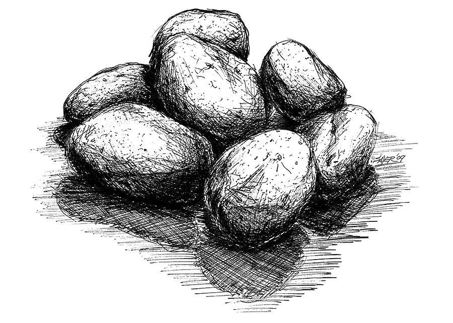 Drawn river pen and ink This drawing rocks Find Crosshatch