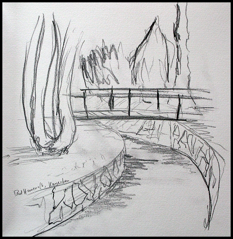 Drawn river pencil drawing Pond ·  Search pond