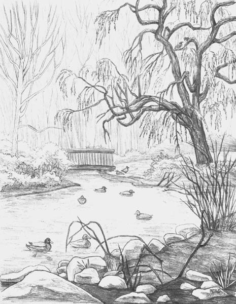 Drawn river pencil drawing Drawings pencil image Learning pencil