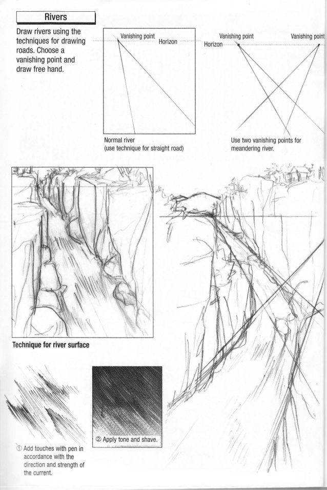 Drawn river perspective How to river perspective 29